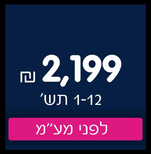 2199 שח ב-1-12 תשלומים לפני מעמ