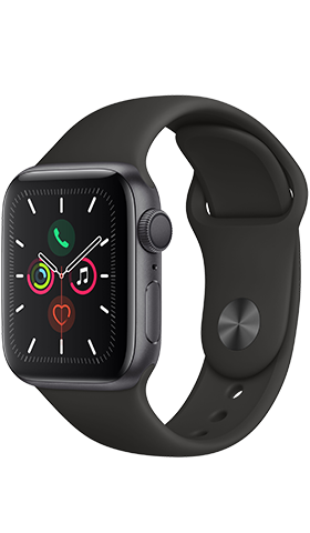 שעון חכם Apple Watch 5 GPS 40mm Space Grey ,Black Band