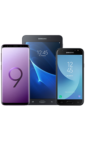 טריפל Samsung Galaxy S9 64GB Black כולל J3 Pro ו Tab בצבע סגול