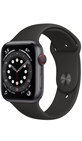 Apple Watch S6 GPS+Cell 44m Grey, Band Black