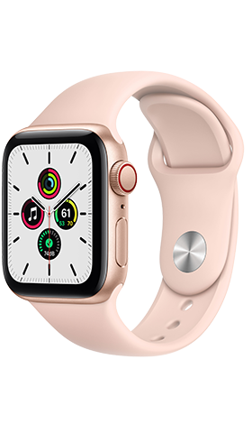 Apple Watch SE GPS+Cell 40m Gold, Band Pink Sand