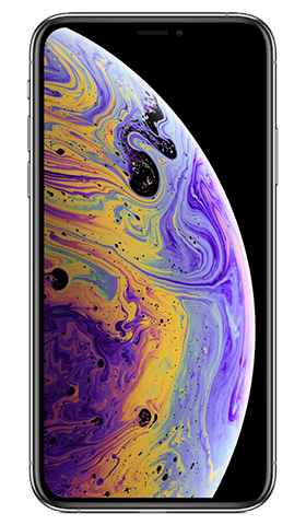 Kit iPhone XS 64GB Silver מלפנים